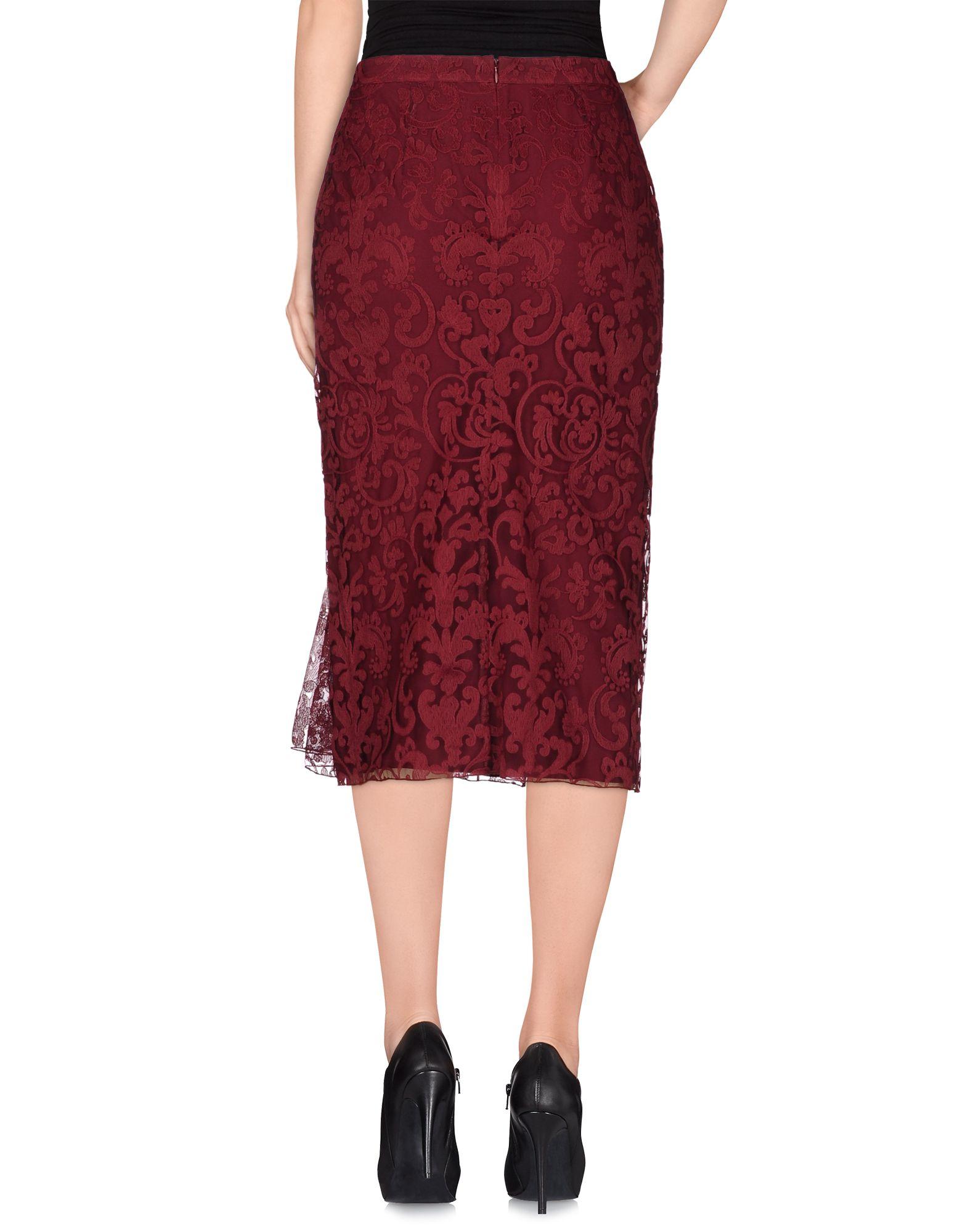 burberry prorsum 3 4 length skirt in garnet save