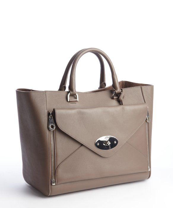 d334d2fdec ... sweden lyst mulberry taupe leather willow tote bag in brown 07f4f a2042