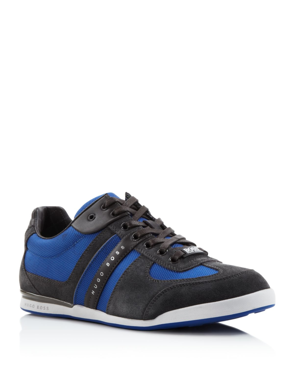 lyst boss boss green akeen sneakers in blue for men. Black Bedroom Furniture Sets. Home Design Ideas