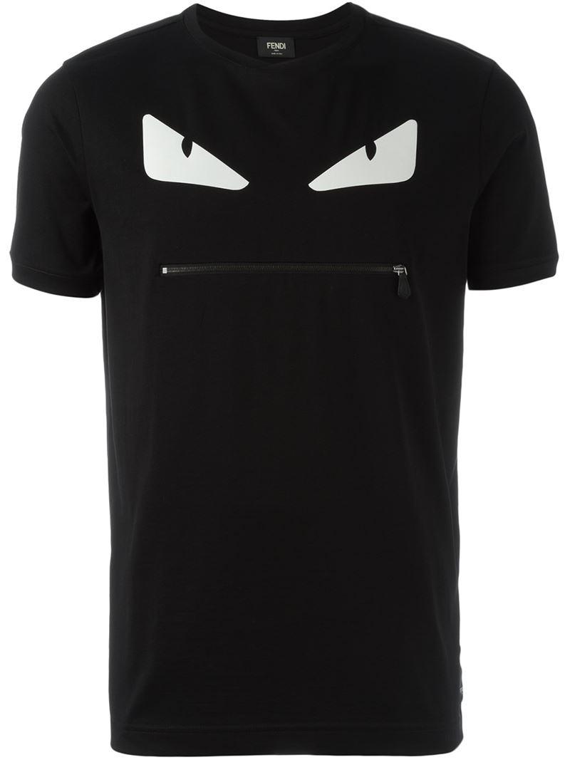 b22658005 ... canada lyst fendi bag bugs zip t shirt in black for men ea7fb 1b8b3