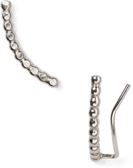 phyllis rosie jewelry moon ear climbers in silver lyst