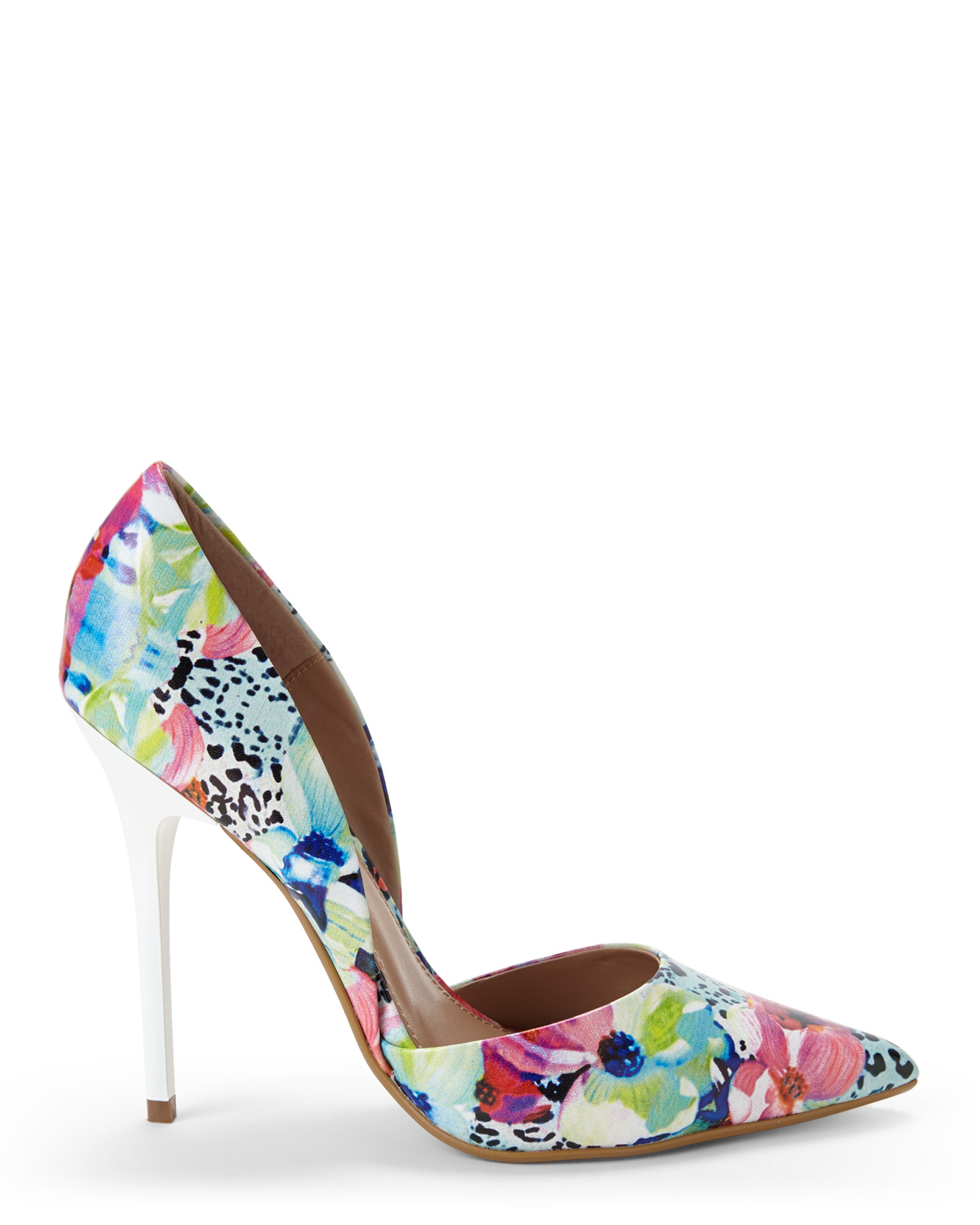 59a2499e6a1 Lyst - Steve Madden Floral Varcityy D Orsay Pumps in Pink