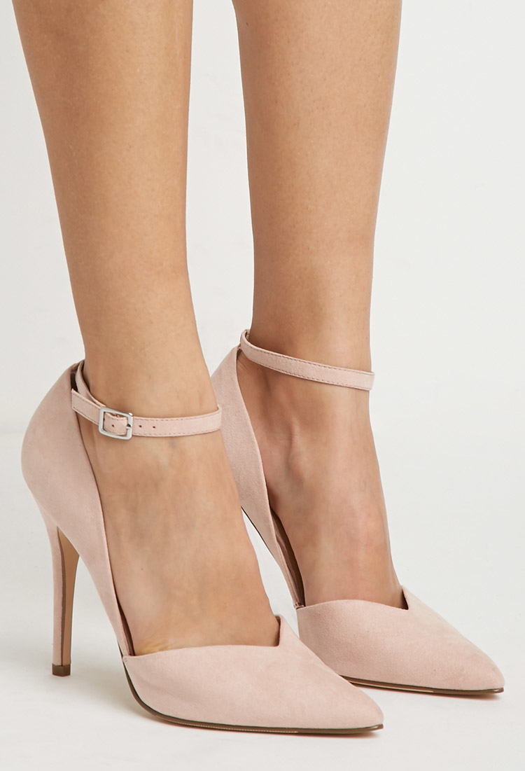 Forever 21 Faux Suede Pointed Pumps In Pink Lyst