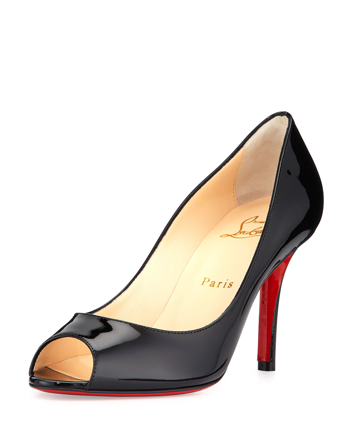 9f679dedb198 Lyst - Christian Louboutin Youyou Patent 85mm Red Sole Pump in Black