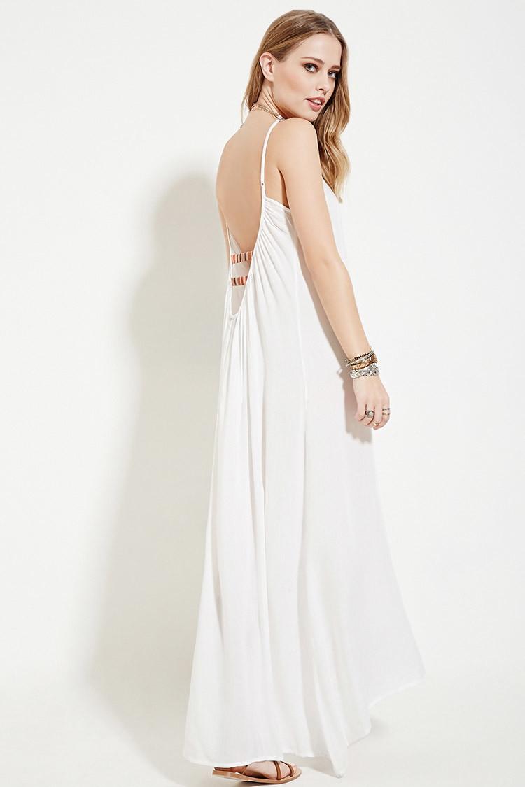 9c5311157b4 Forever 21 Boho Me Maxi Dress in White - Lyst