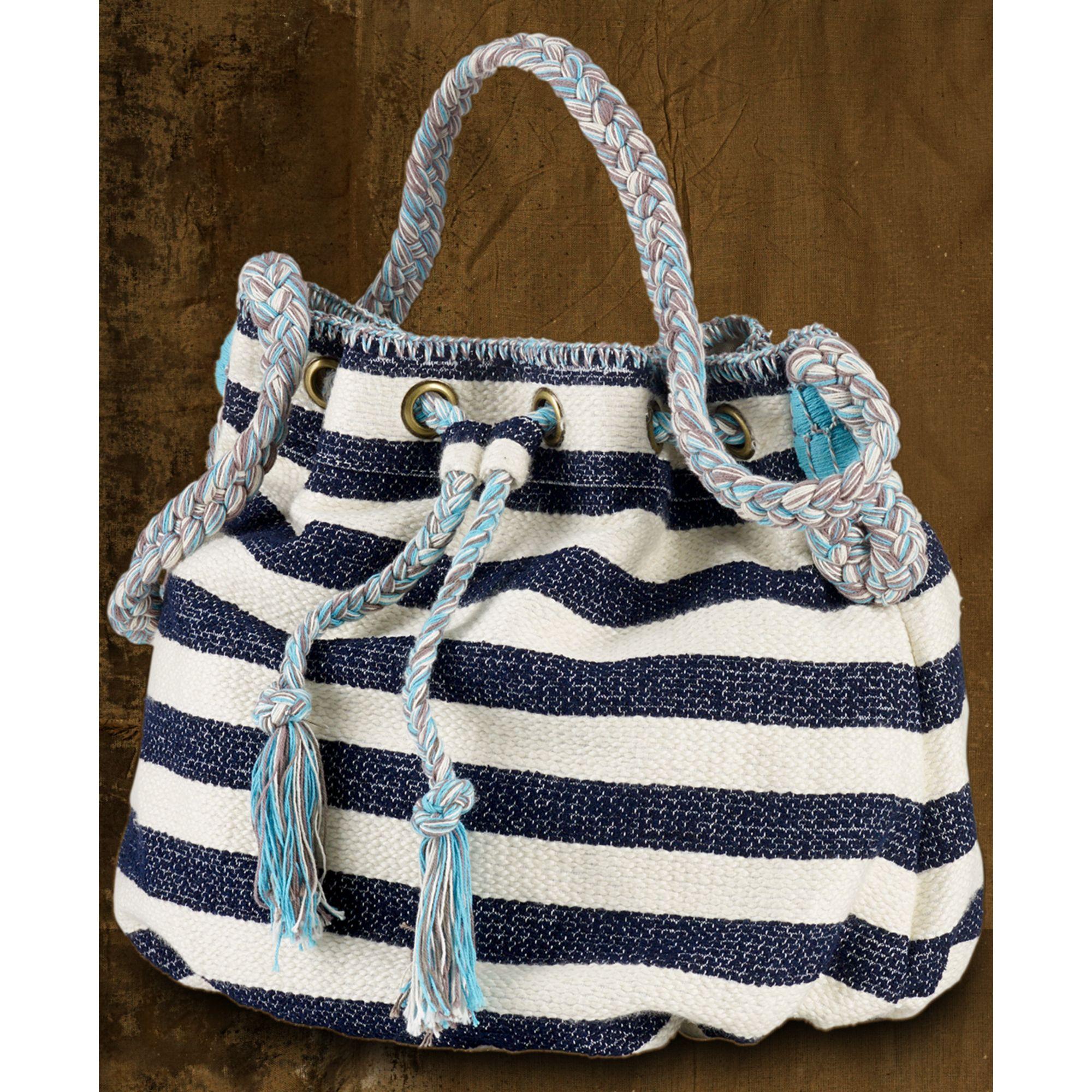 ff2cbaea7f45 Lyst - Denim   Supply Ralph Lauren Striped Drawstring Bucket Bag in Blue