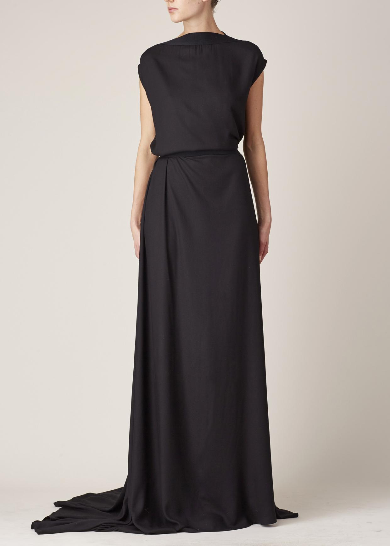Lyst Ann Demeulemeester Black Infinity Dress In Black