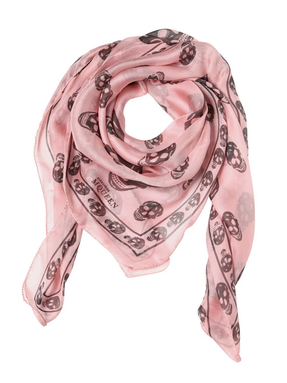 Skull scarf - Pink & Purple Alexander McQueen 0vbzwIu1s