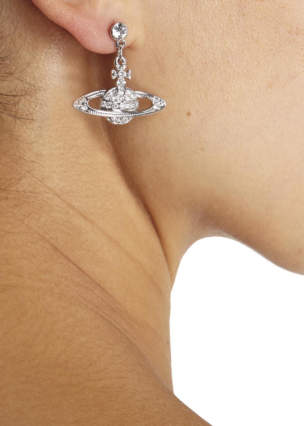 ca09659c0 Vivienne Westwood Grace Bas Relief Swarovski Orb Earrings in ...