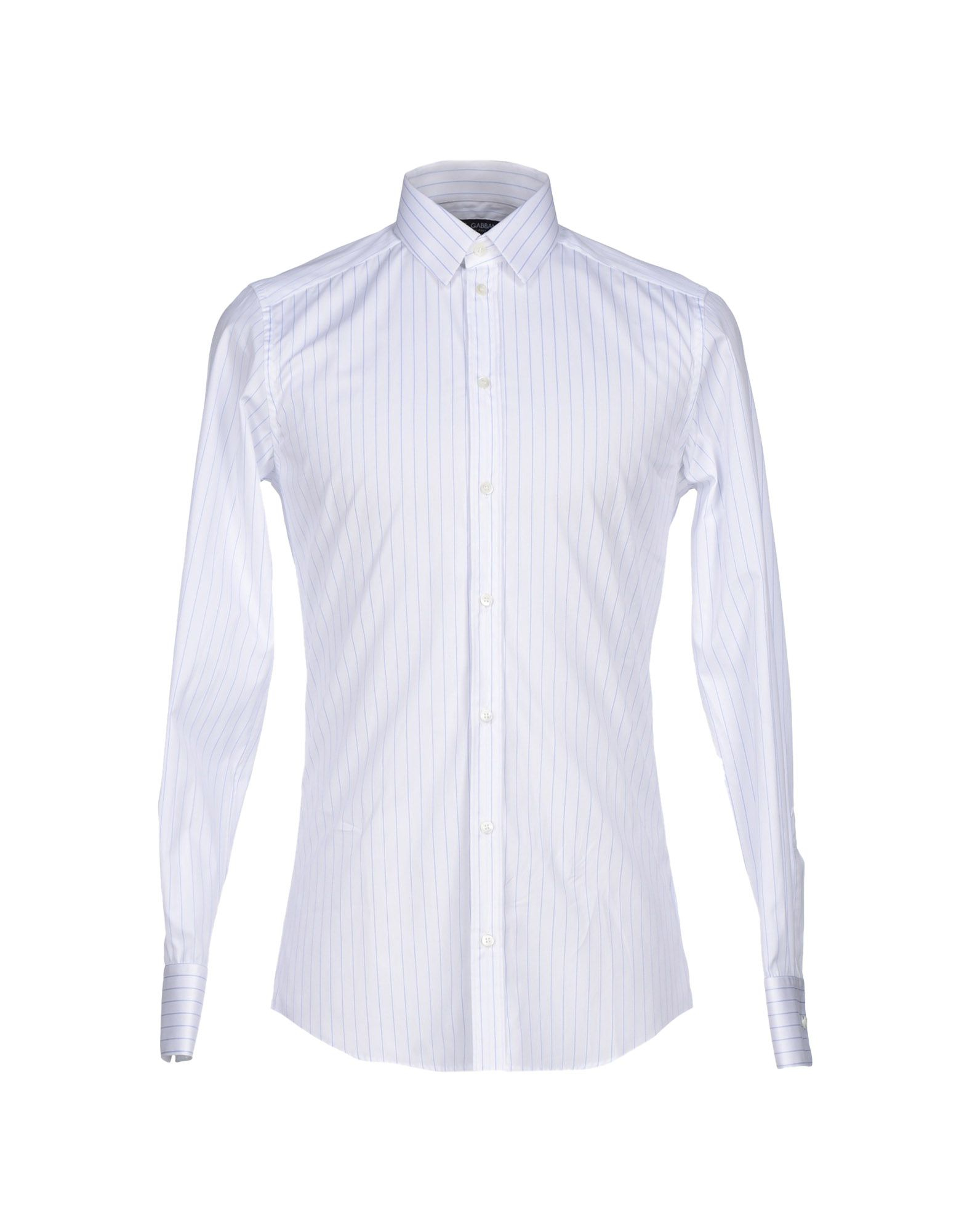 Lyst dolce gabbana shirt in white for men for Stafford white short sleeve dress shirts