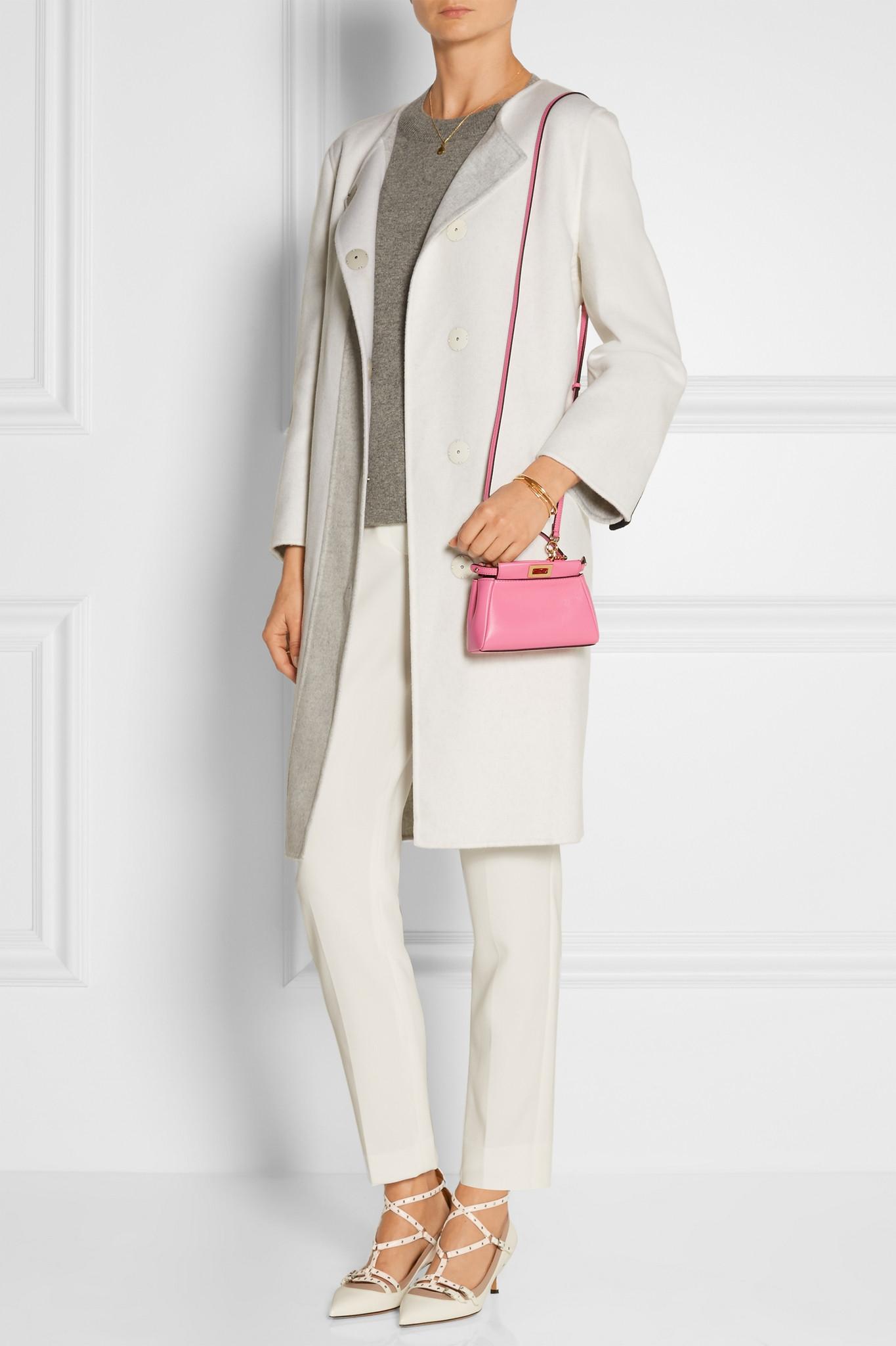 199c37cd1f17 Fendi Peekaboo Micro Leather Shoulder Bag In Pink Lyst