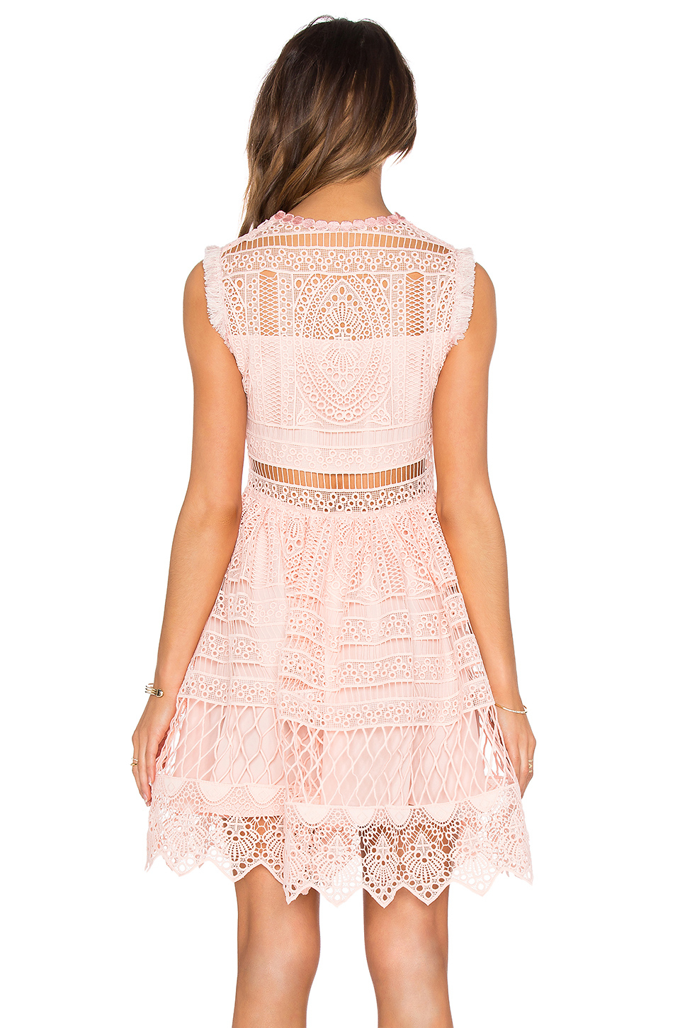 Alexis Sage Fit And Flare Dress In Pink Lyst