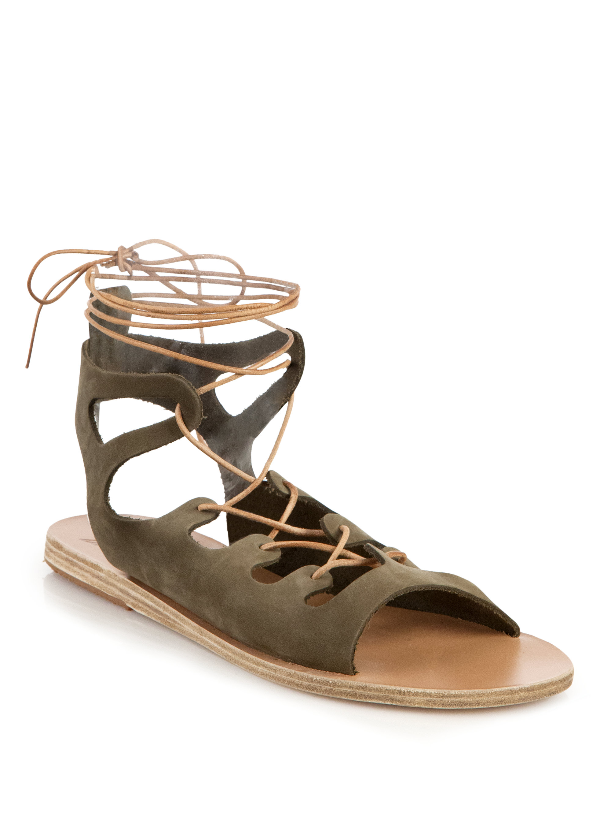 Lyst Ancient Greek Sandals Antigone Suede Gladiator