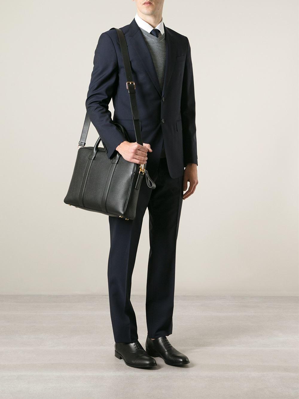 lyst tom ford zipped laptop bag in black for men. Black Bedroom Furniture Sets. Home Design Ideas