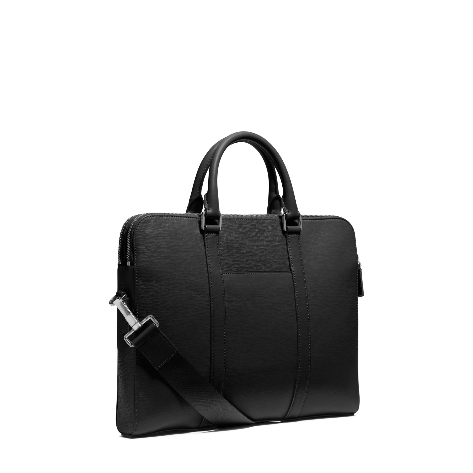 Michael kors Warren Slim Leather Briefcase in Black for ...
