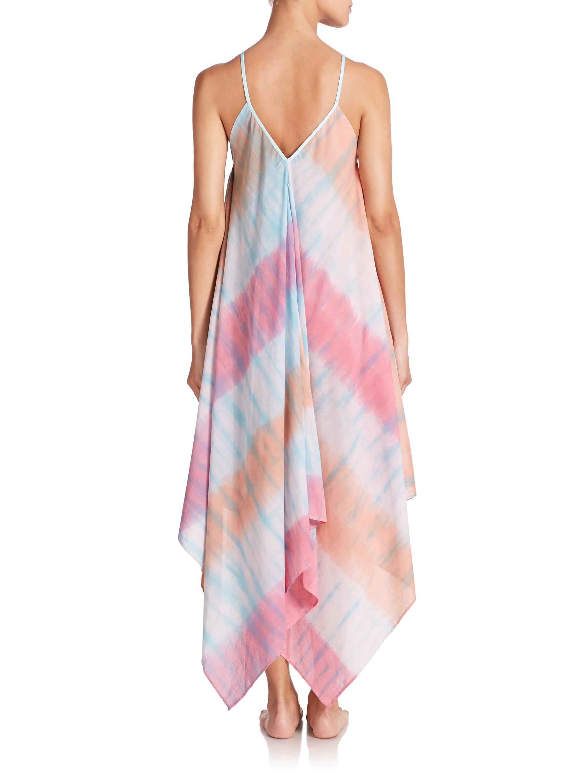 Roberta Roller Rabbit Cotton Tie Dye Scarf Dress Lyst