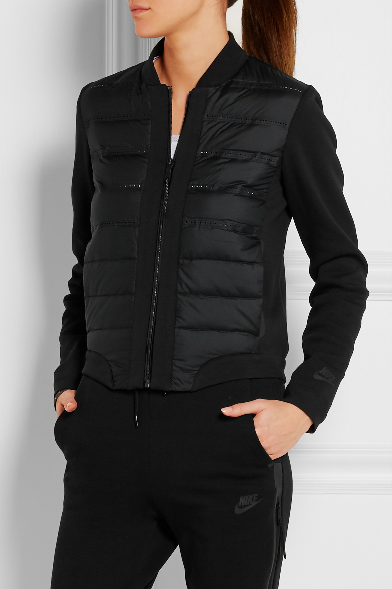 Nike Aeroloft Quilted Shell And Jersey Down Jacket In