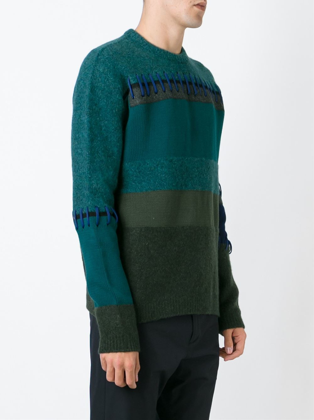 kenzo striped sweater in blue for men lyst. Black Bedroom Furniture Sets. Home Design Ideas