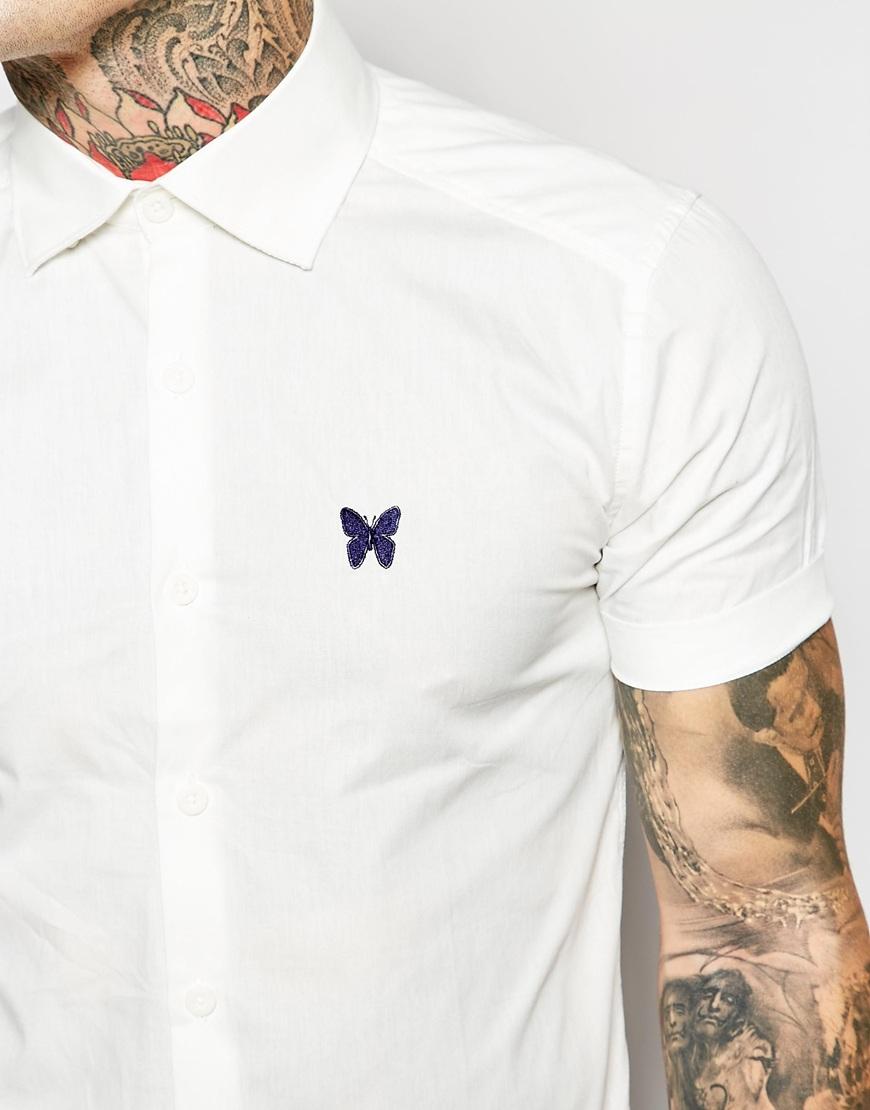 Good for nothing Short Sleeved Shirt in White for Men   Lyst