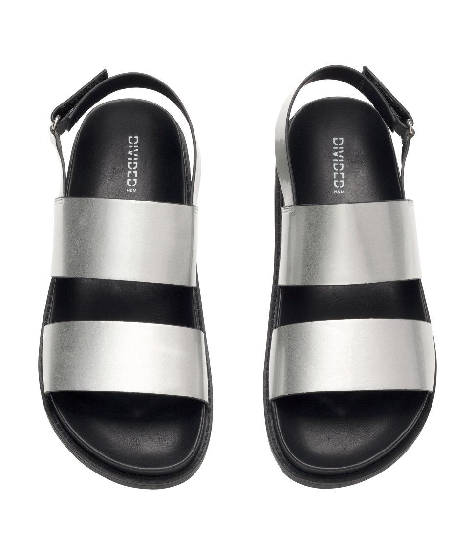 2e33b93f438 Lyst - H M Sandals in Metallic