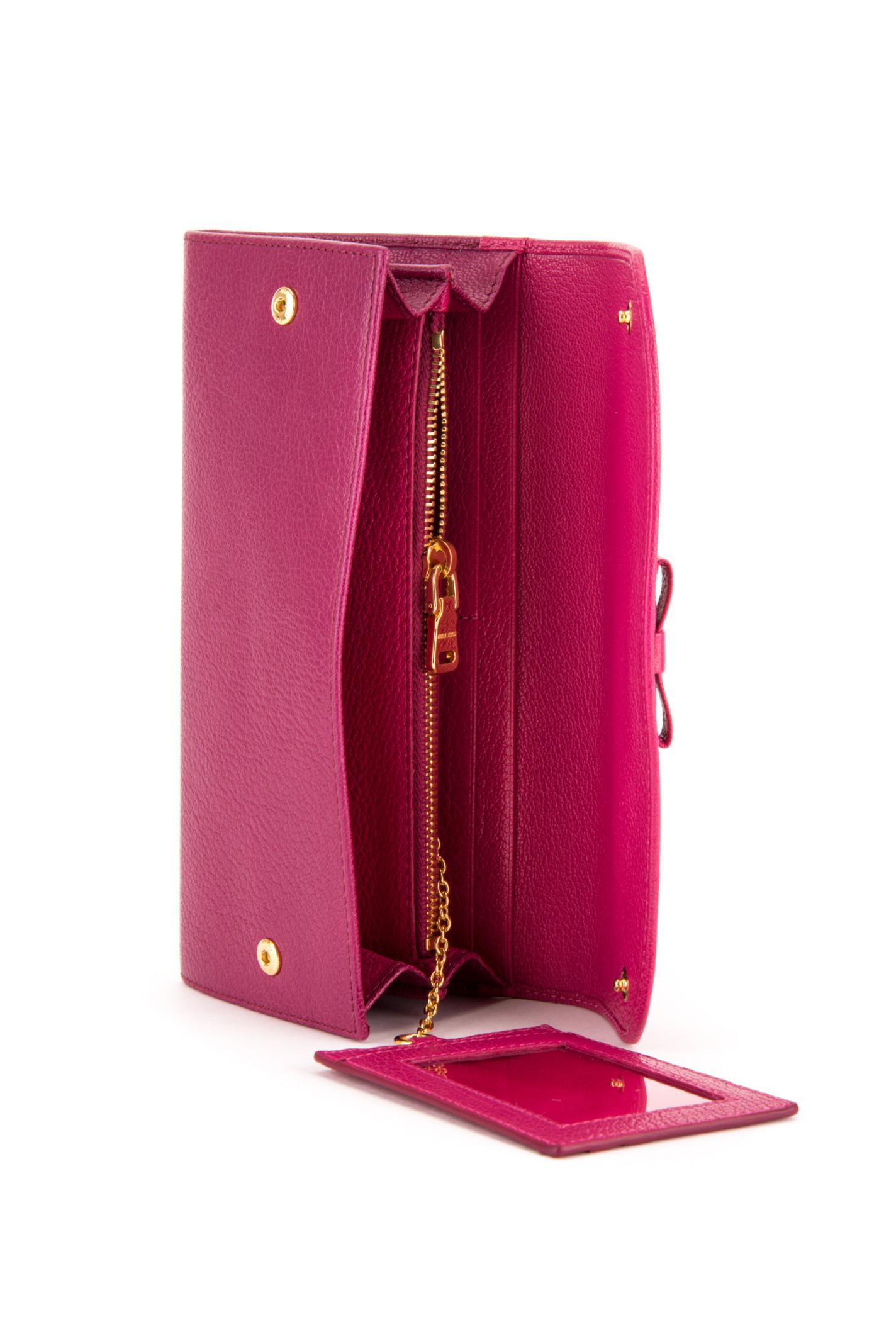 Miu miu Portafoglio Madras Bicolore Fiocco in Pink (PEONIA+ ...