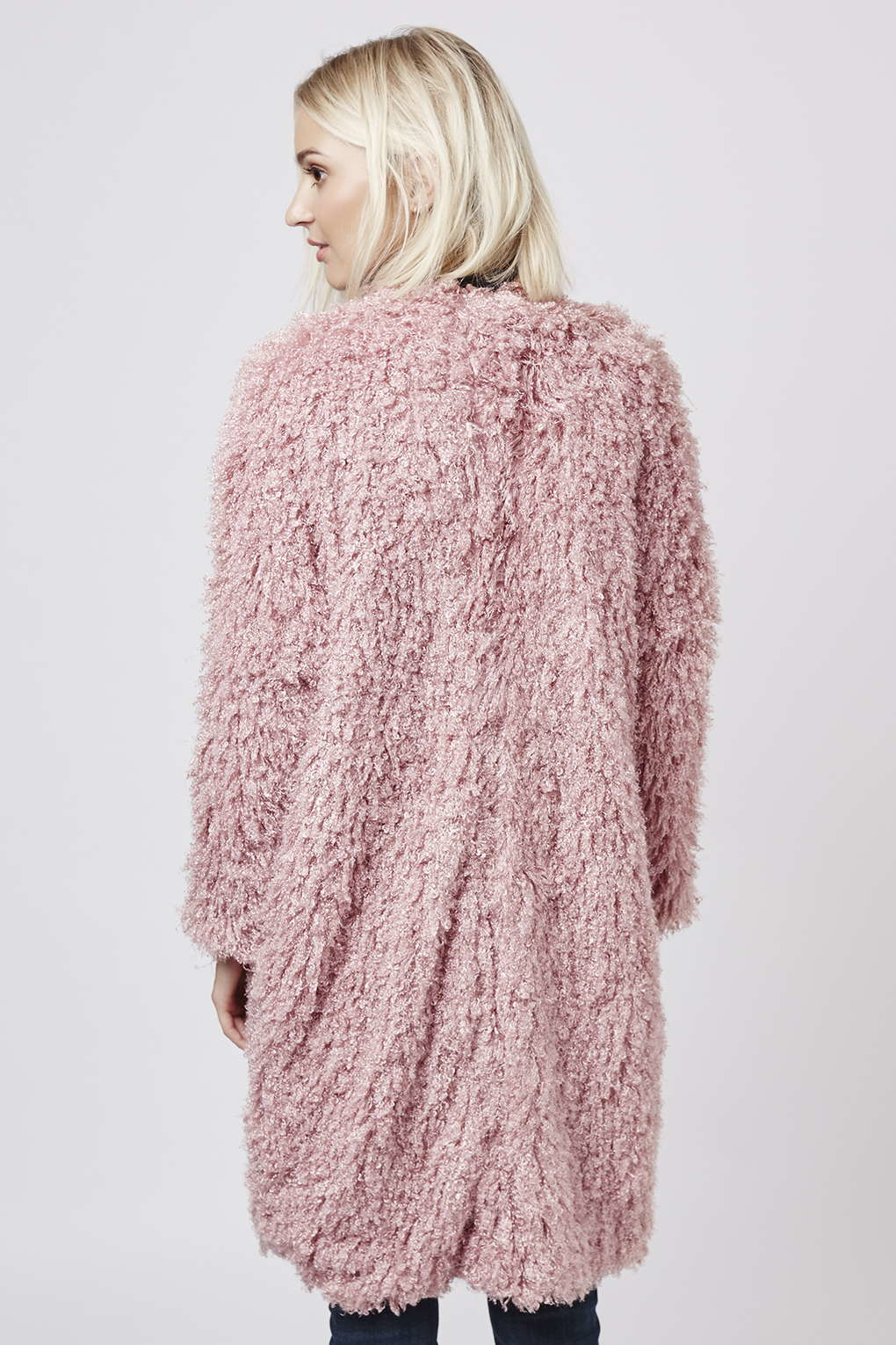 Topshop Aviation Faux Fur Coat By Goldie in Pink | Lyst