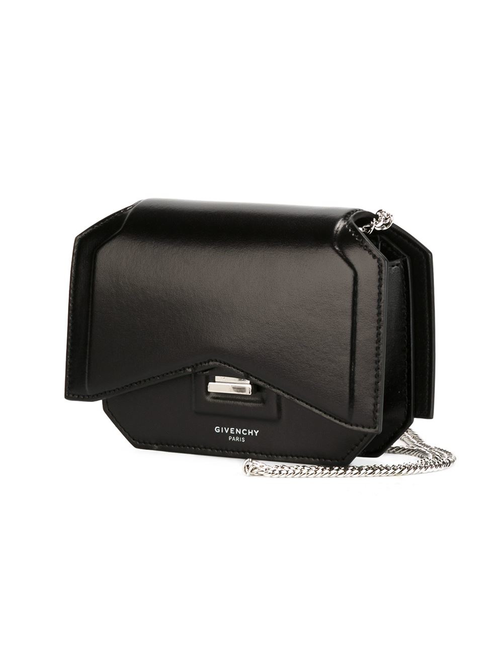 41433025ef29 Lyst - Givenchy Bow-cut Chain Wallet in Metallic