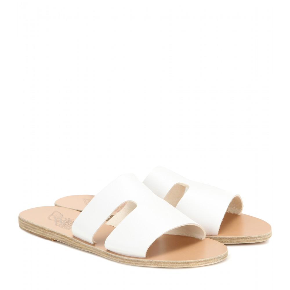 Ancient Greek Sandals Apteros Velvet Slide Sandals vYP4U