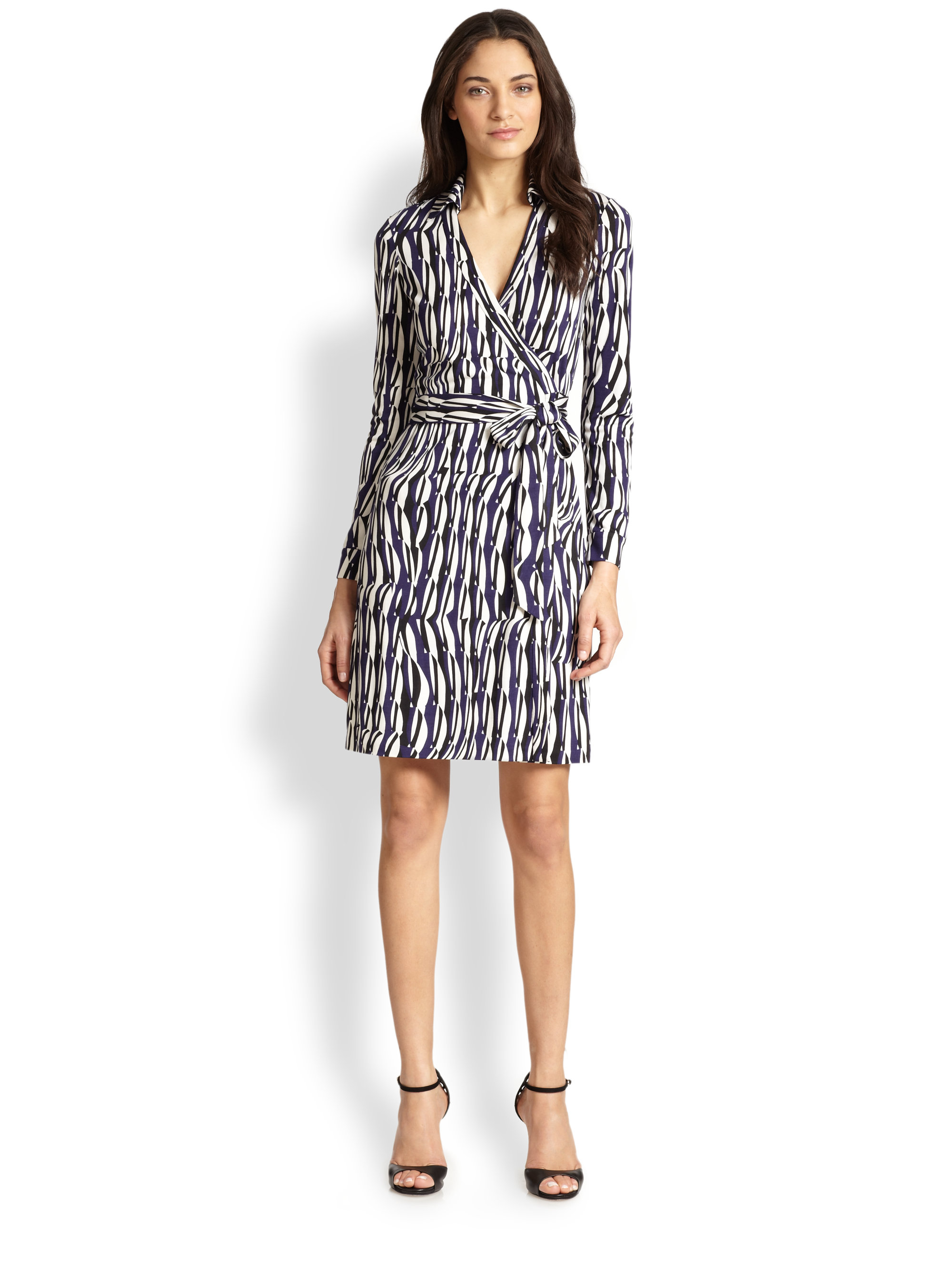 Diane Von Furstenberg New Jeanne Silk Jersey Wrap Dress In
