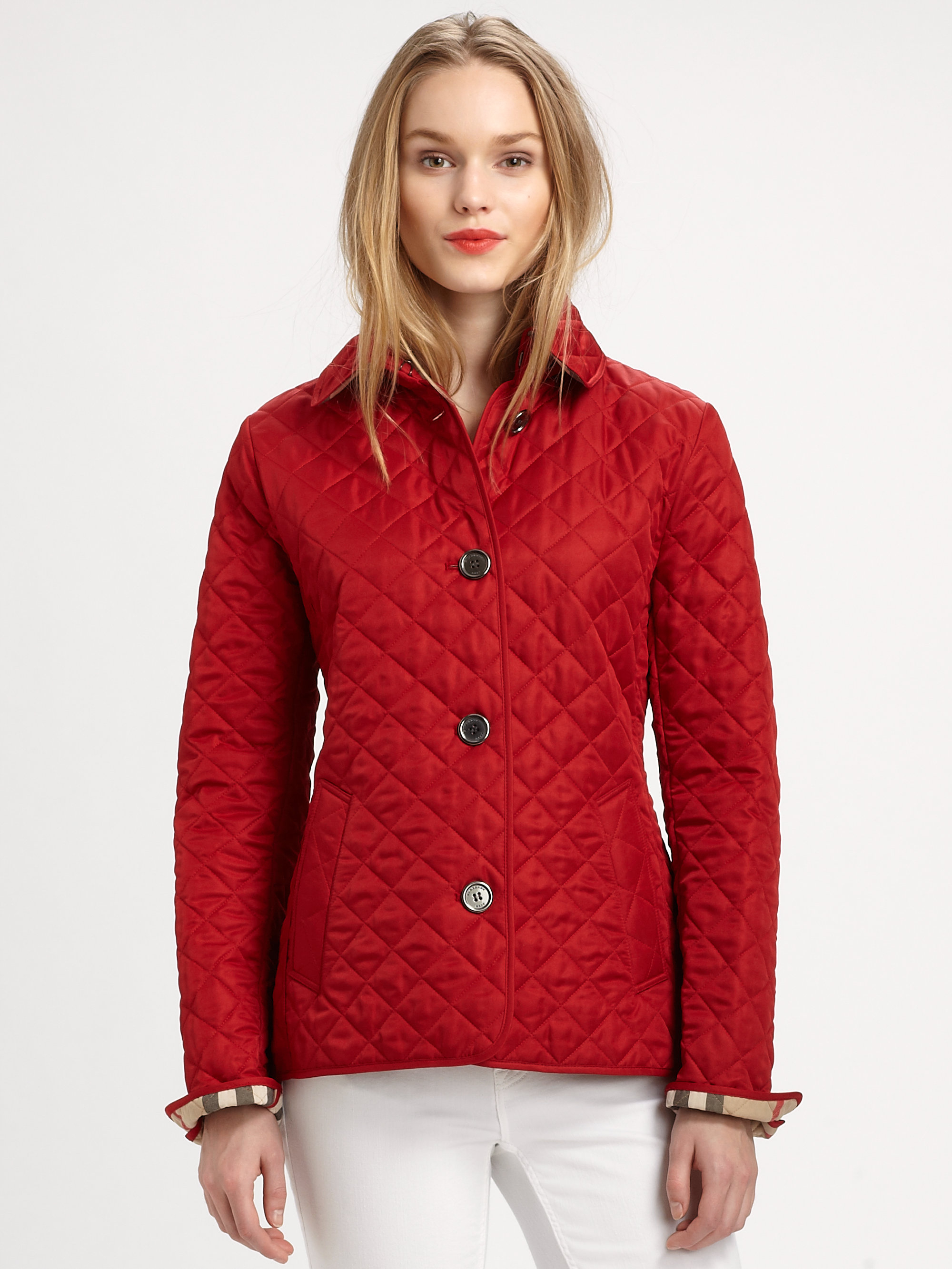 Burberry Brit Copford Jacket In Red Lyst