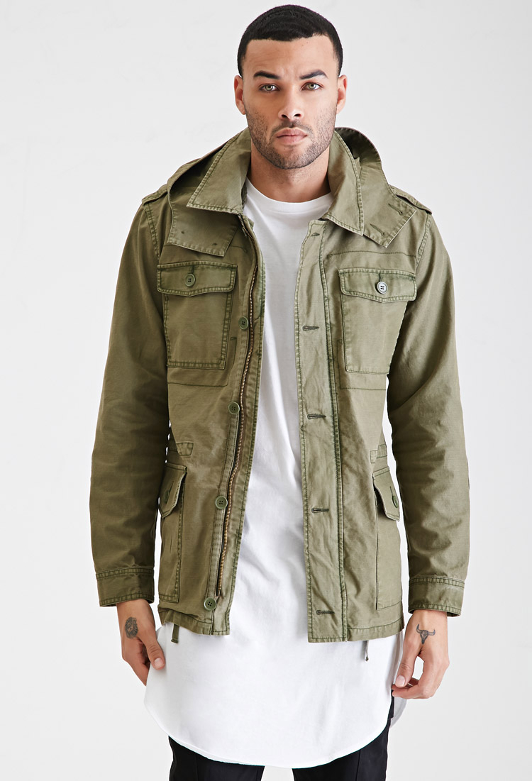Forever 21 Cotton-blend Jacket in Green for Men | Lyst