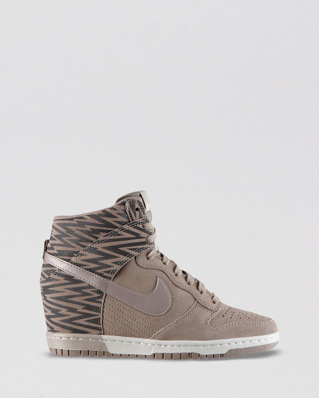 65141f30 Nike High Top Wedge Sneakers Womens Dunk Sky Hi in Brown - Lyst