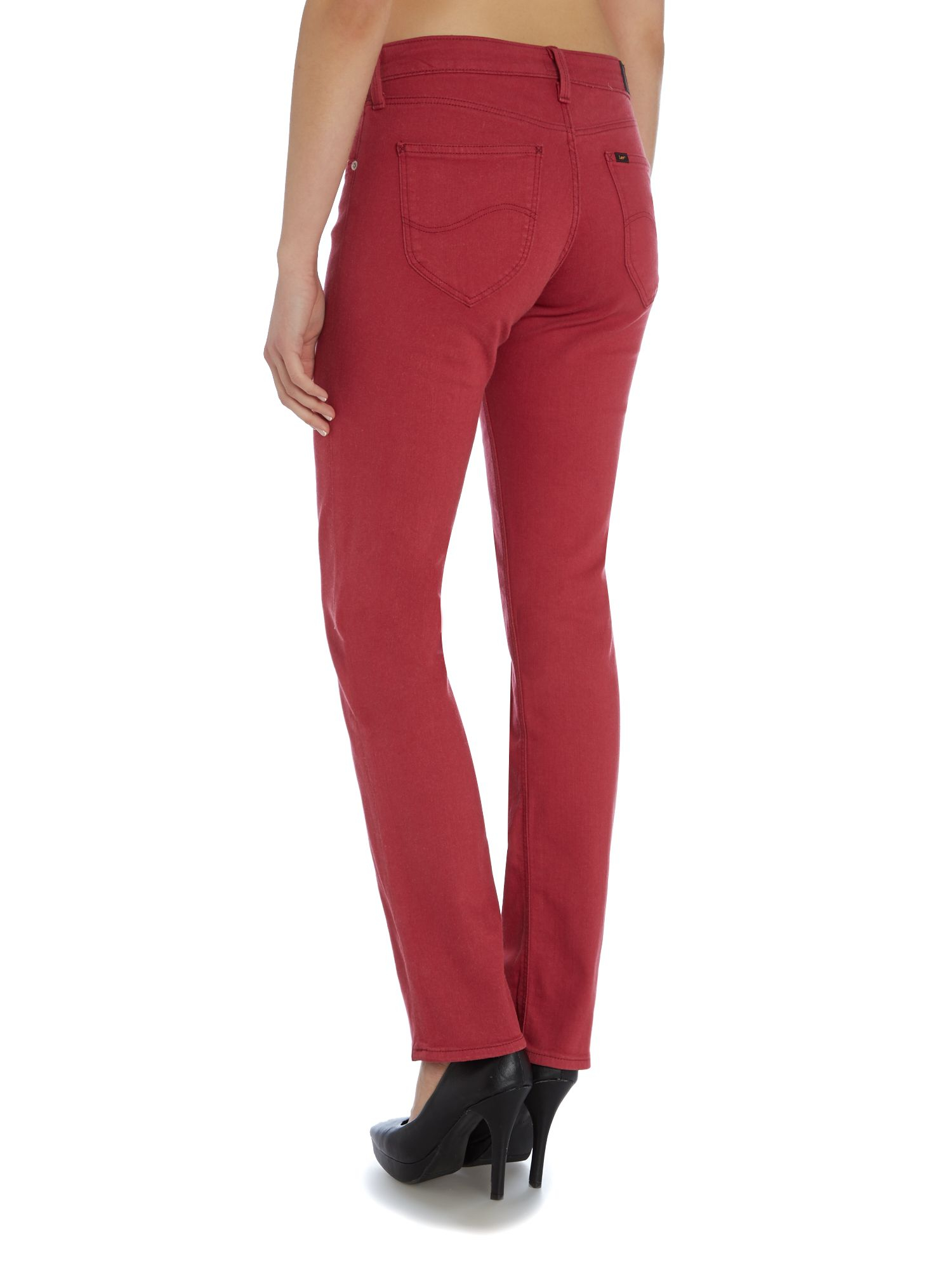 Lee Jeans Marion Straight Fit Jean In Framboise In Pink Lyst
