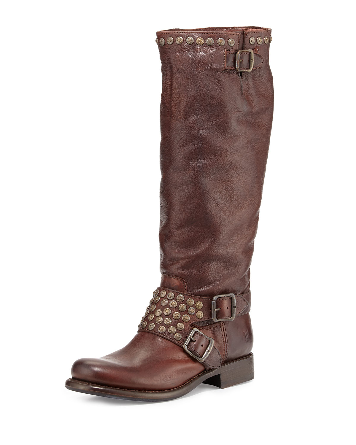 Lyst Frye Jenna Knee High Leather Boots In Brown