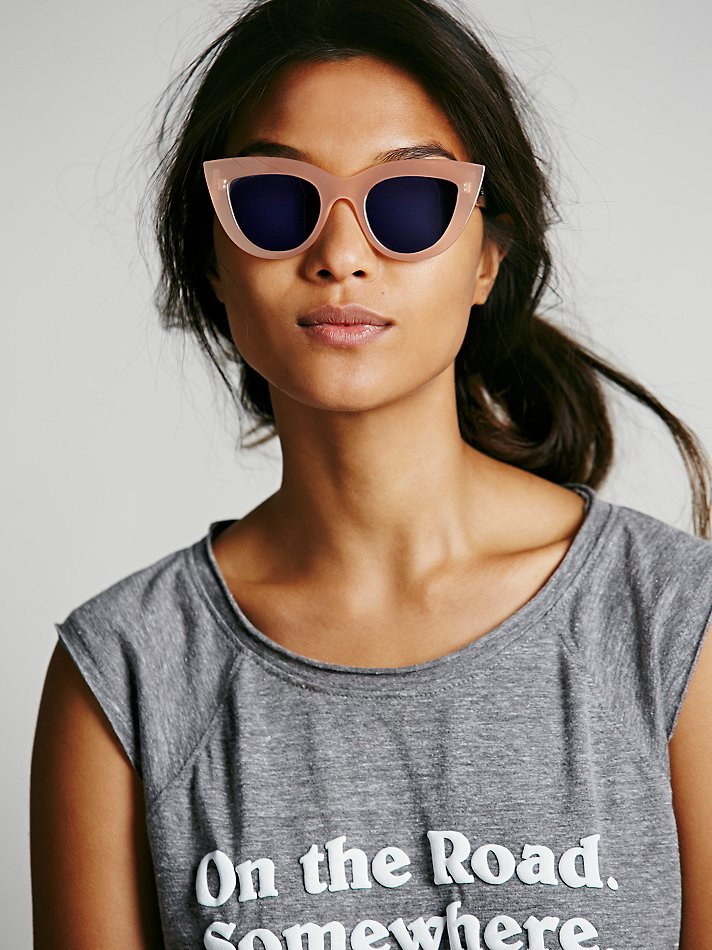 Free People Quay Womens Kitty Sunglass In Natural Lyst