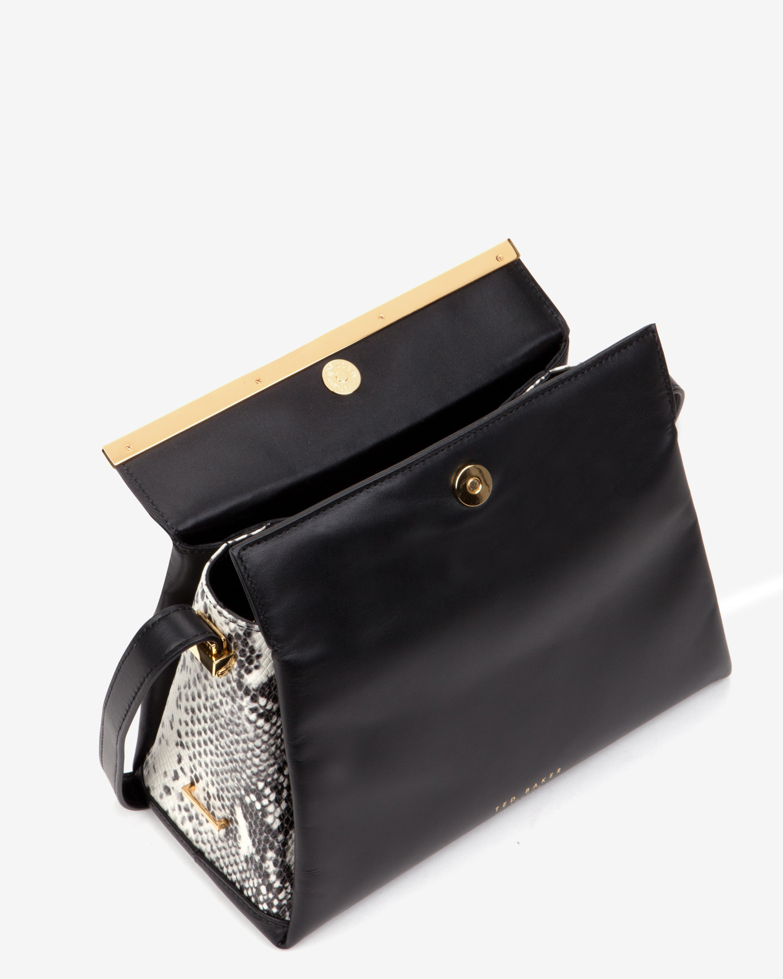 1860798fe85 Ted Baker Pansy Exotic Mini Tote Bag in Black - Lyst