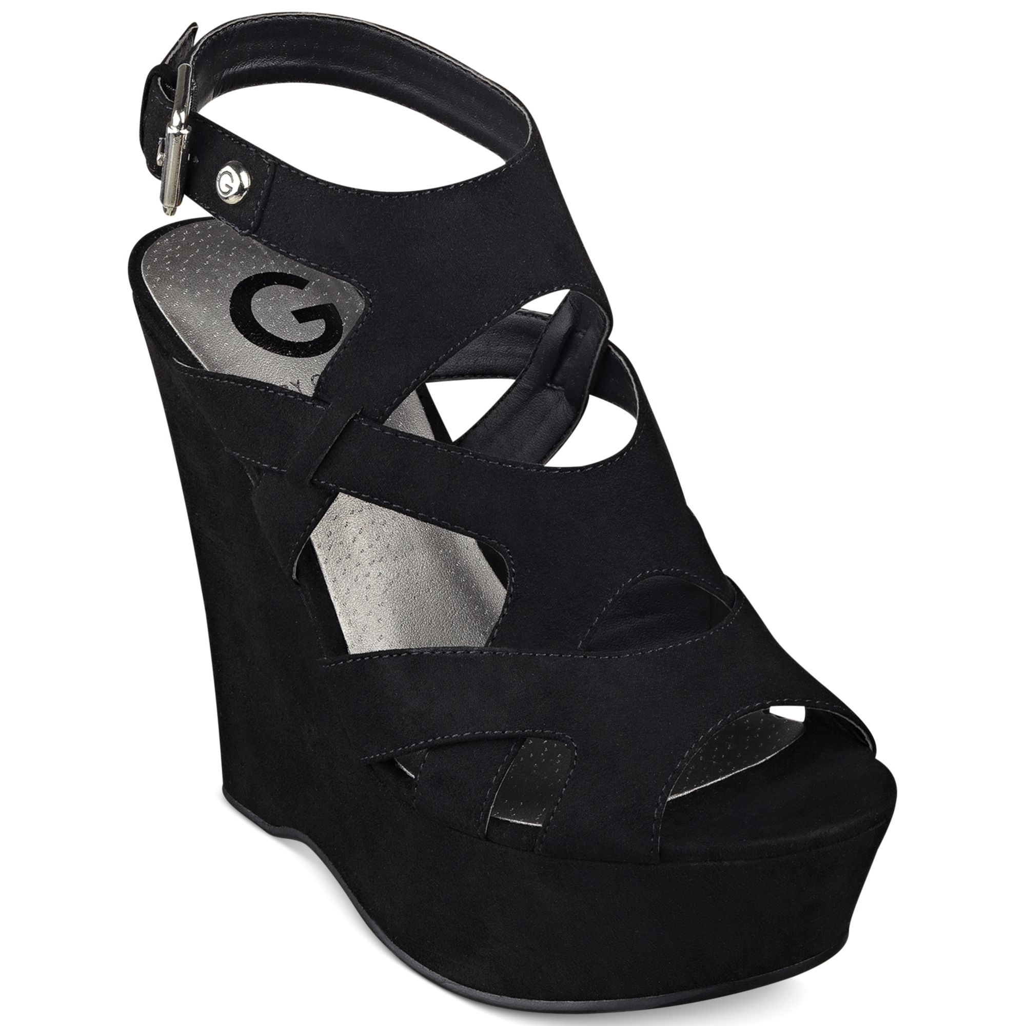fe5c36aab G by Guess Womens Shoes Hizza Platform Wedge Sandals in Black - Lyst