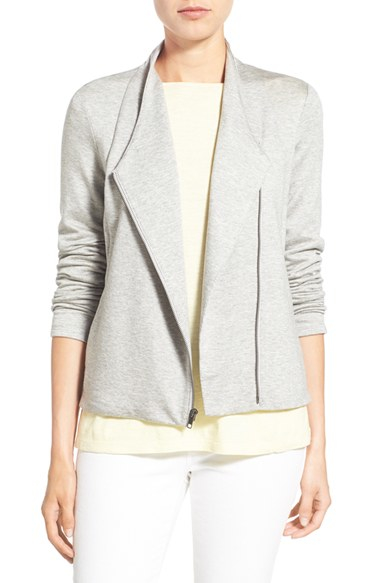 how to make iphone silent eileen fisher tencel jersey high collar jacket in gray lyst 2950
