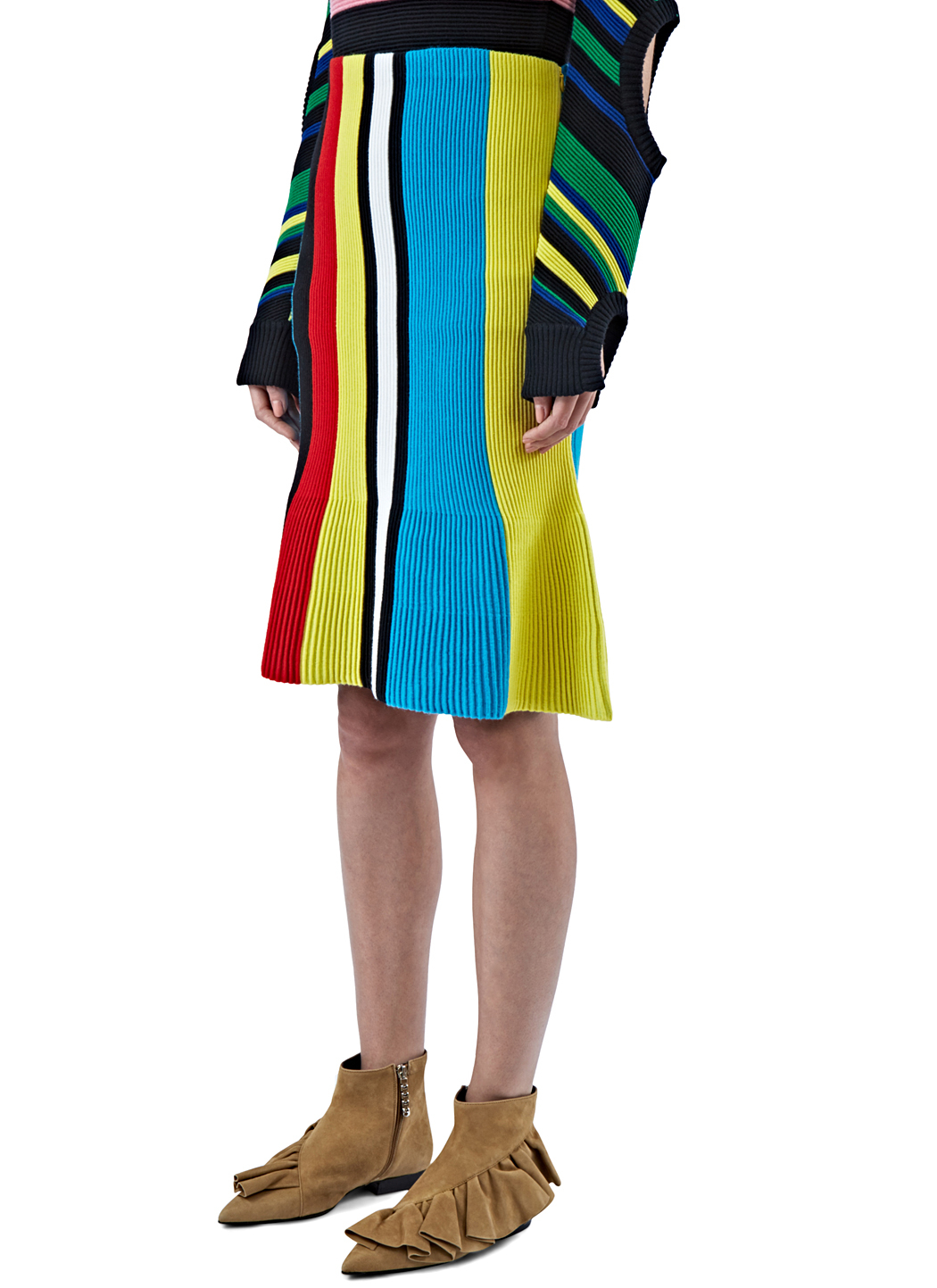 Lyst J W Anderson Women S Ottoman Striped Knit Skirt In