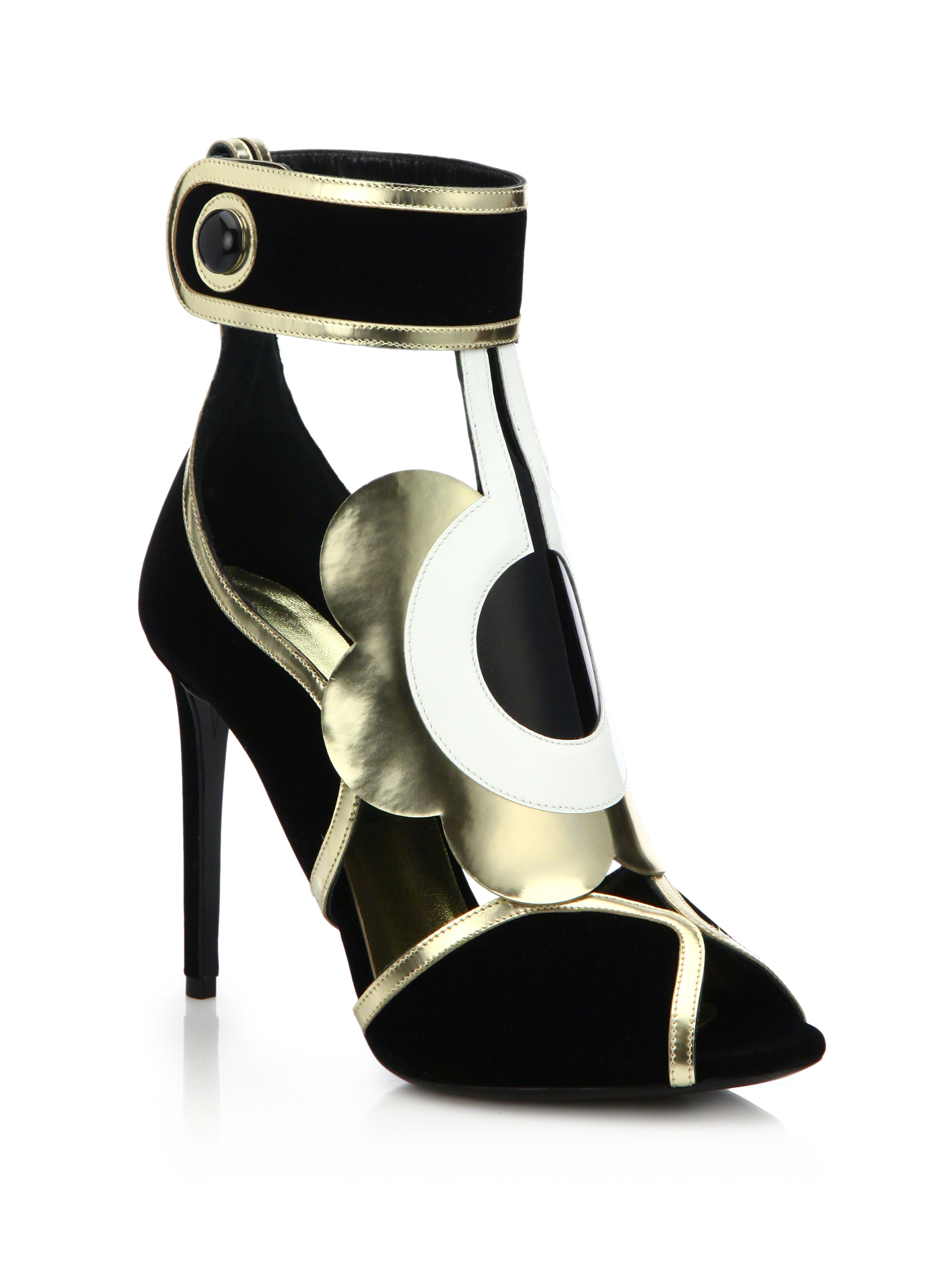 free shipping fashionable low cost online Nicholas Kirkwood Floral Striped Sandals 2014 sale online buy cheap ebay looking for sale online 5Qin5