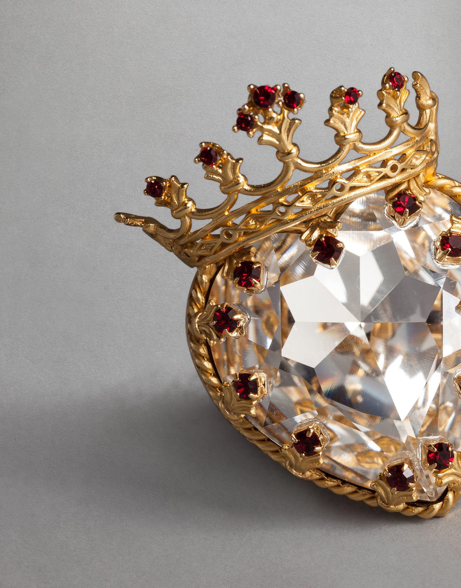 6d72461b2839 Lyst - Dolce   Gabbana Heart Crown Ring in Metallic