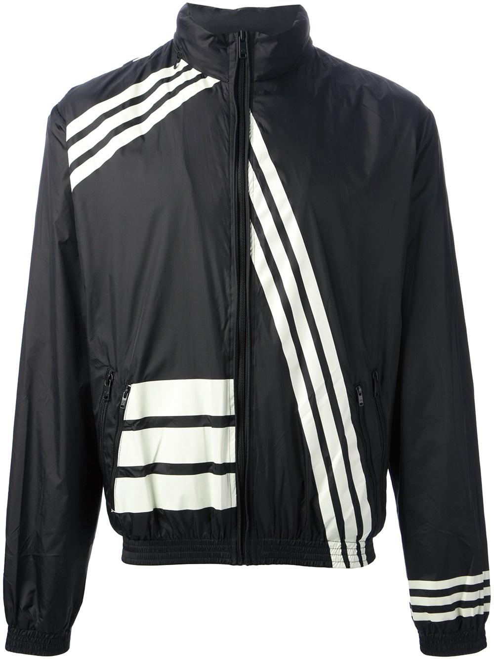 y 3 printed windbreaker jacket in black for men lyst