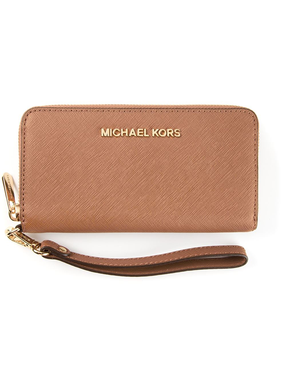 nude rose leather 39 jet set travel 39 wallet from michael michael kors. Black Bedroom Furniture Sets. Home Design Ideas