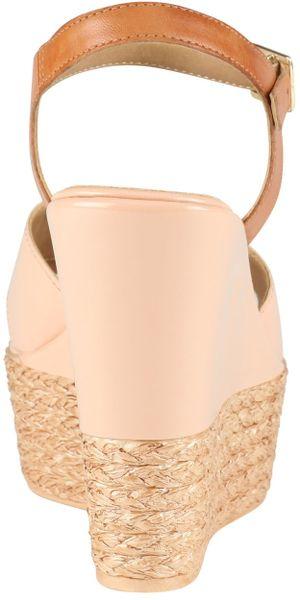 Aldo Frirwen Wedge Strap Sandals In Pink Off White Lyst