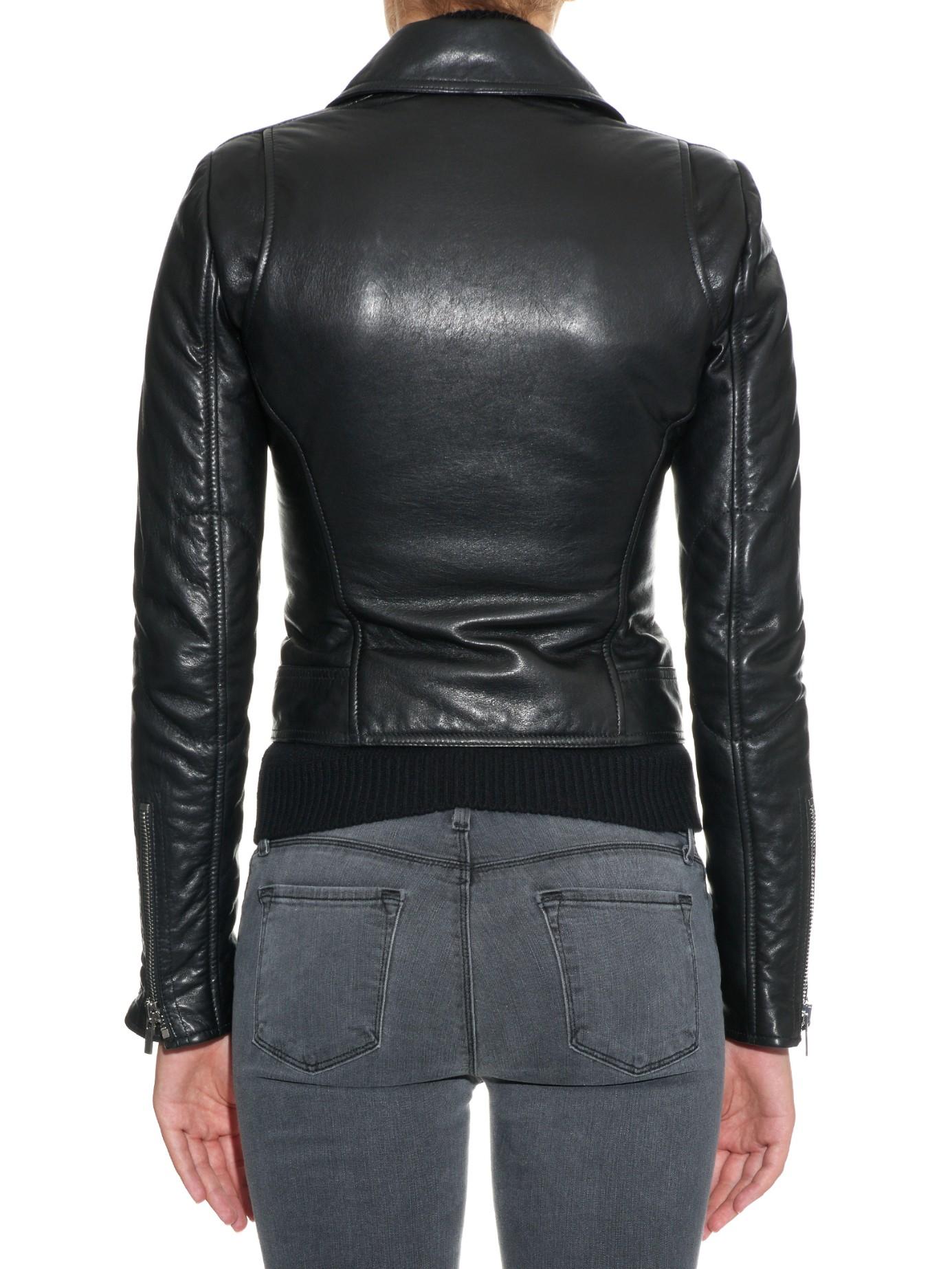 Lyst - Balenciaga Classic Leather Biker Jacket in Black   1385 x 1846 jpeg 840kB