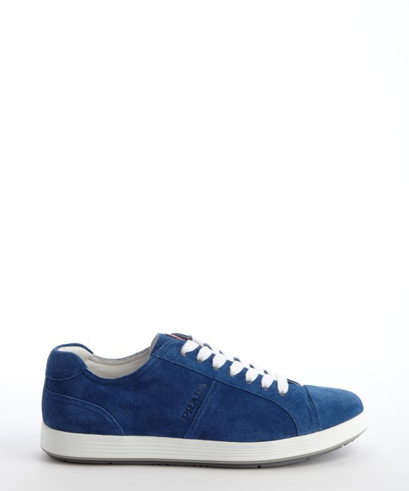 lace-up sneakers - Blue Prada Na2p8S8O