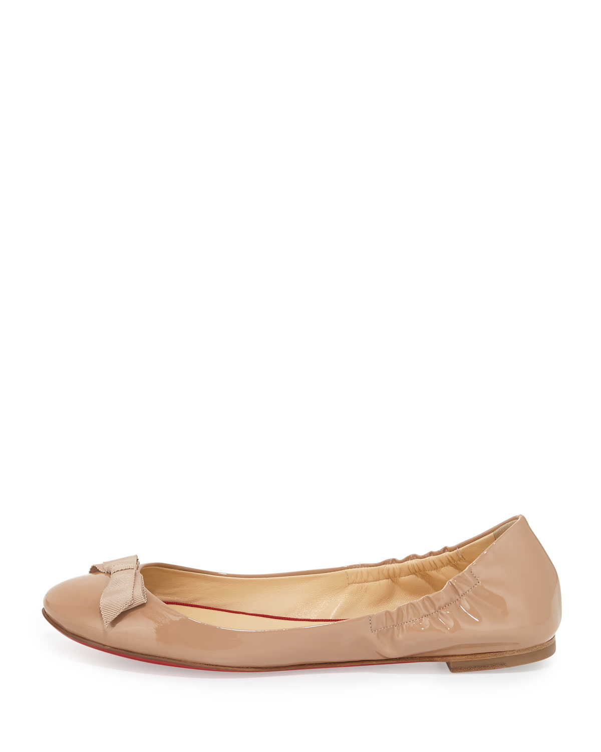 christian louboutin knockoffs - Christian louboutin Gloriana Patent-Leather Ballet Flats in Beige ...