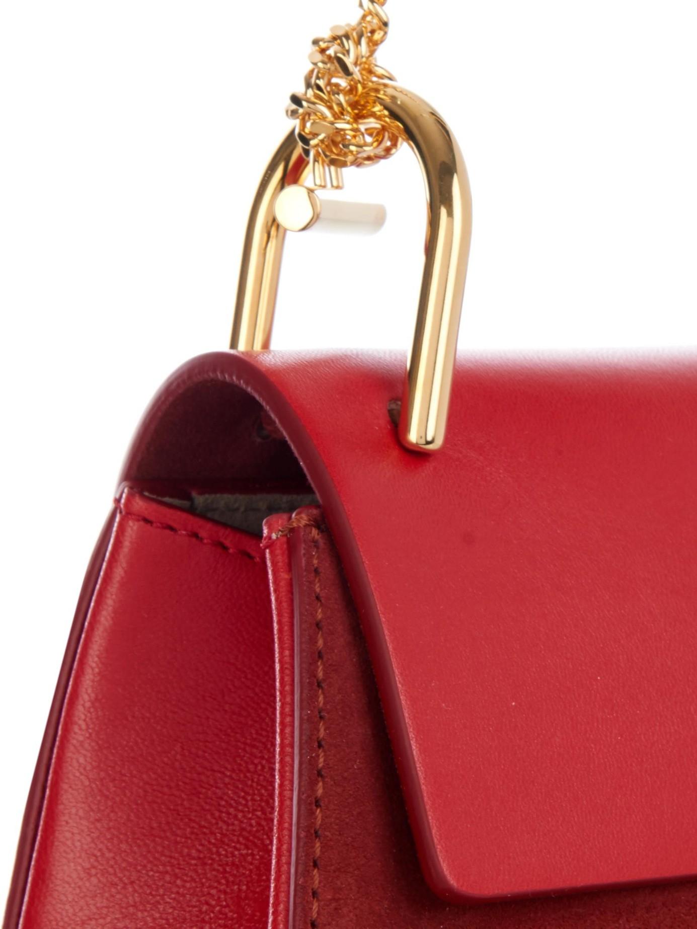 chlo bags - Chlo�� Drew Cross-Body Bag in Red | Lyst