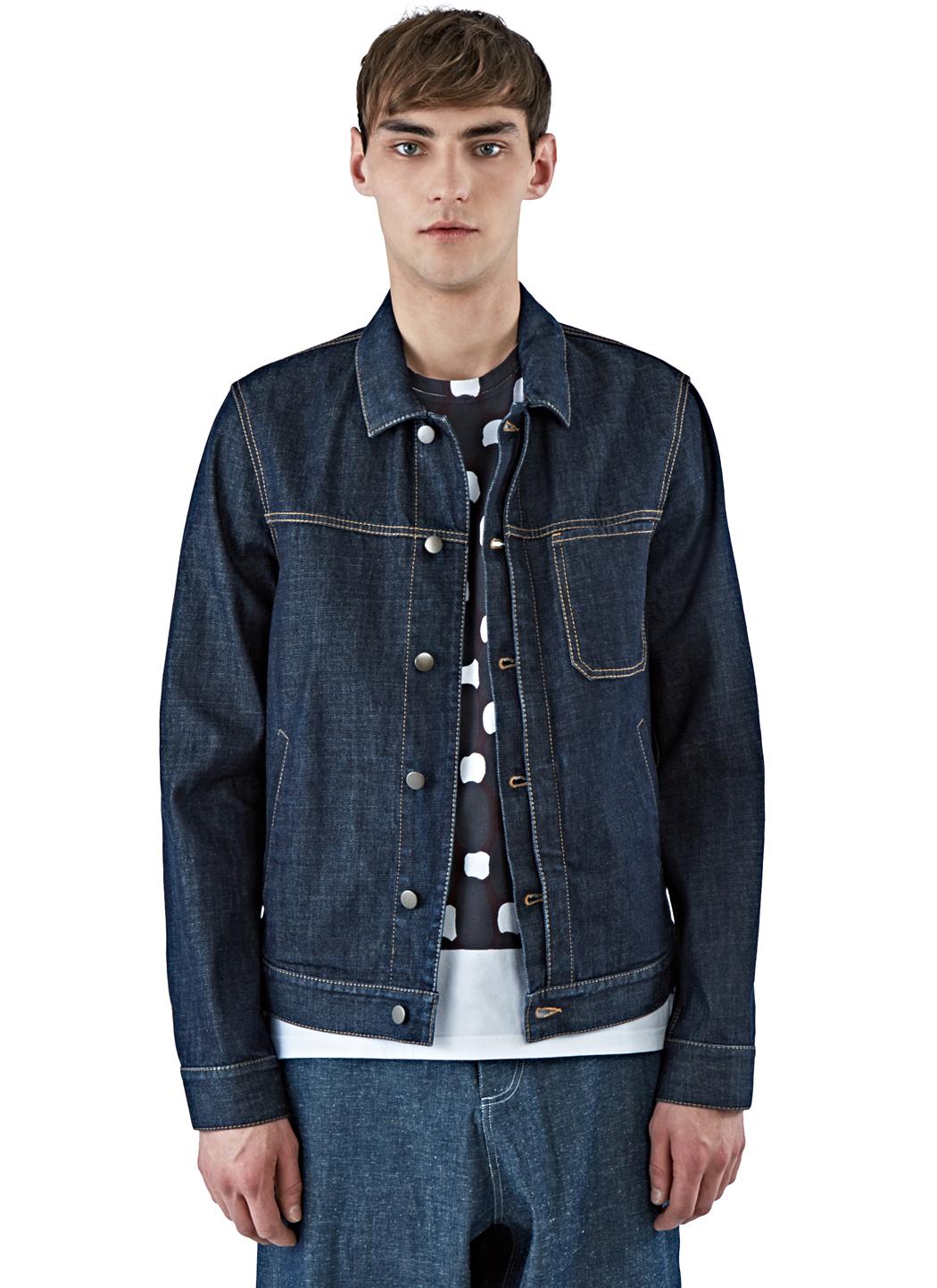 Marni Men's Raw Denim Jacket In Indigo in Blue for Men | Lyst