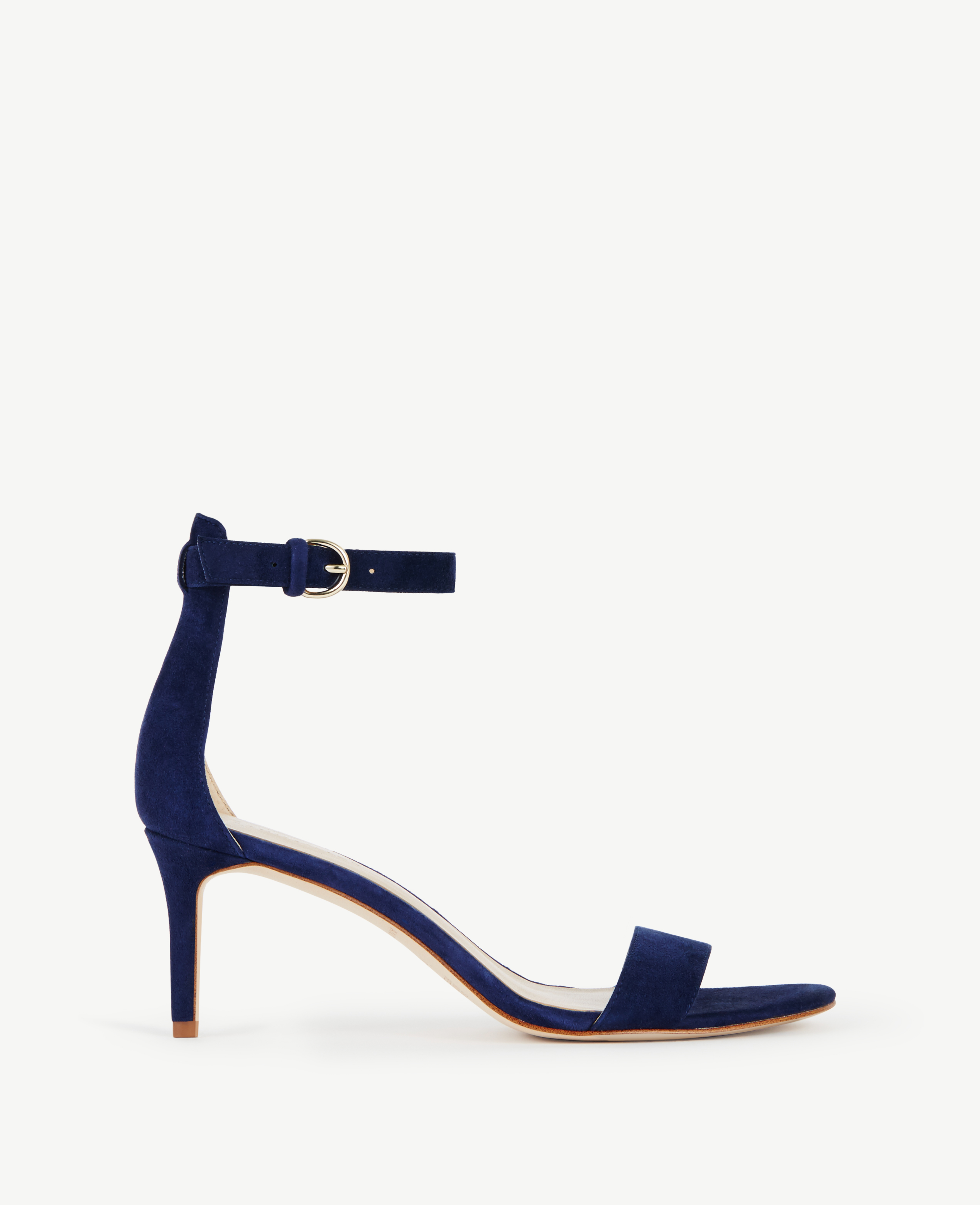 d5f25d44f52 Lyst - Ann Taylor Kaelyn Suede Strappy Sandals in Blue